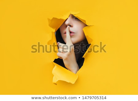 part of woman with censorship Stock photo © ssuaphoto