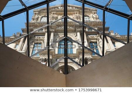 Louvre piramide museum een historisch Stockfoto © artjazz