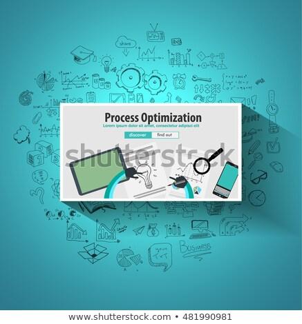 Prozess Optimierung Produktion überprüfen up Doodle Stock foto © DavidArts
