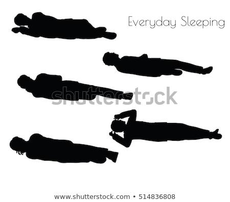 Menino cotidiano adormecido pose branco eps Foto stock © Istanbul2009