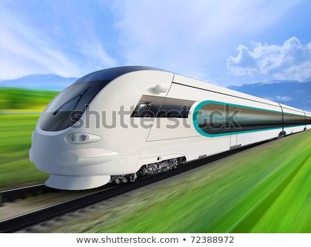 Super gestroomlijnd trein technologie achtergrond Stockfoto © ssuaphoto