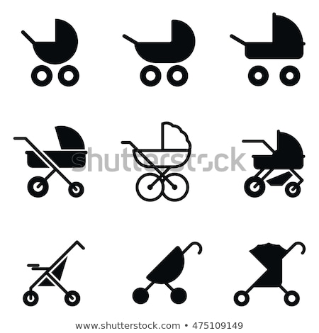 bebek · simgeler · daire · gıda · çocuk · dizayn - stok fotoğraf © bluering