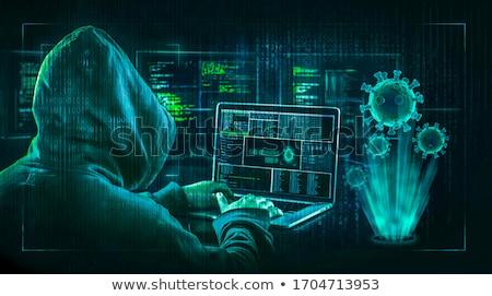 suç · phishing · infographics · simgeler · hacker · parmak · izi - stok fotoğraf © -talex-