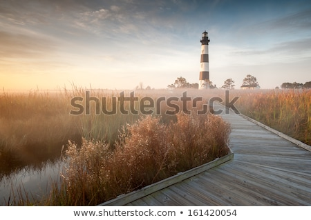 Stock fotó: Bodie Island Lighthouse Obx Cape Hatteras North Carolina