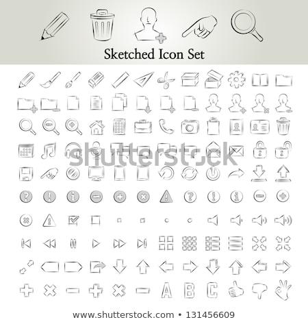 add file sketch icon stock photo © rastudio