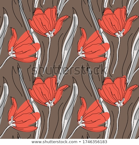 paper card with tulips eps 10 stock photo © beholdereye
