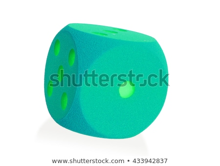 Large green foam die isolated - 1 Stock photo © michaklootwijk