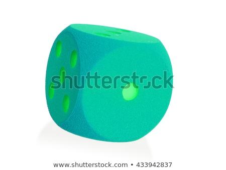 Groß grünen Schaum isoliert weiß Set Stock foto © michaklootwijk