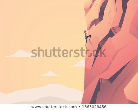girl climber on the wall Stock photo © adrenalina