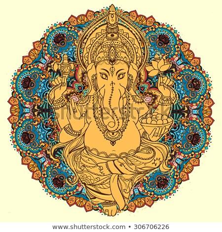 Indian boga mądrość bogactwo odizolowany biały Zdjęcia stock © orensila