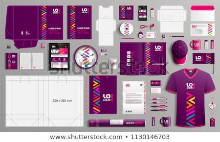 Corporate identiteit business gebruikt branding Stockfoto © stevanovicigor