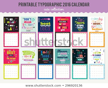 2016 calender template Stock photo © SArts