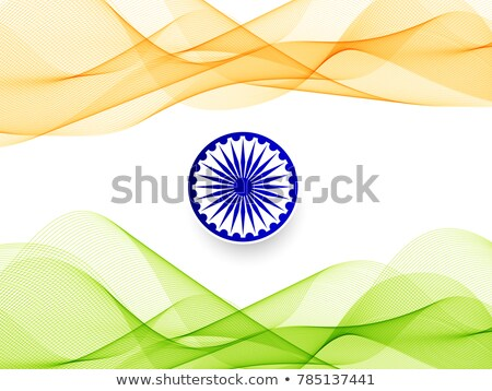 indian tricolor wave background vector design illustration Stock photo © SArts