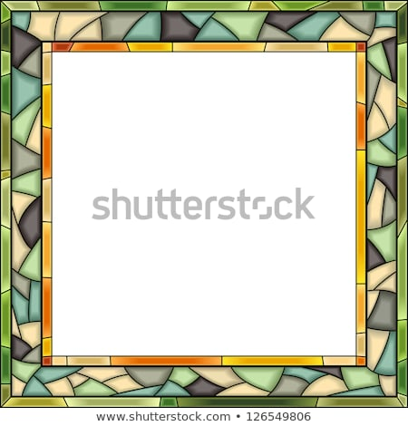 Vector stained-glass window frame for photography. stock photo © Vertyr