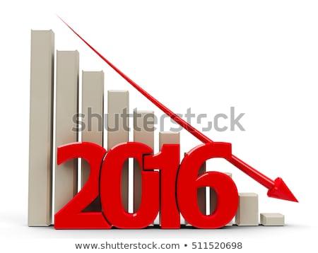 üzleti grafikon lefelé 2016 piros nyíl csökkenés Stock fotó © Oakozhan