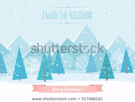 Inverno vacanze montagna panorama banner vettore Foto d'archivio © robuart