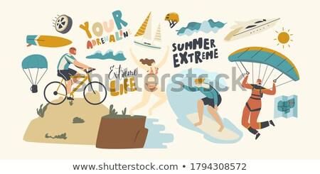 Nyáridő Alpok sportok nyár kastély hegyek Stock fotó © kb-photodesign