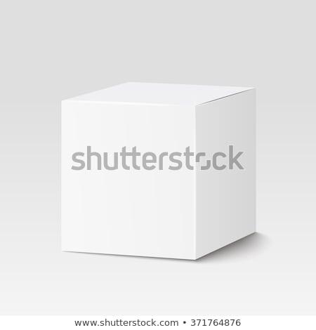 vetor · caixa · modelo · realista · caixa · de · presente · janela - foto stock © Mediaseller