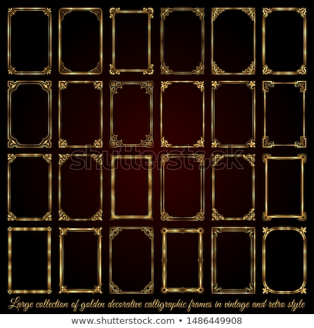 large collection of golden ornate calligraphic design elements   vector set stock photo © blue-pen