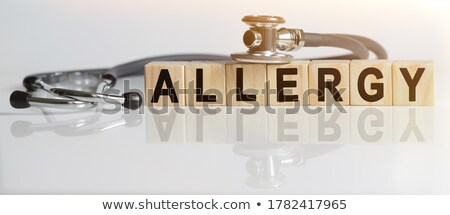 Allergies Concept Isolated Letterpress Word Stock photo © enterlinedesign