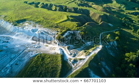 View  from the top on the chalky quarry and a beautiful landscap Stock photo © vlad_star