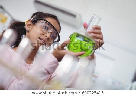 エレメンタリー 学生 緑 化学 ビーカー ストックフォト © wavebreak_media