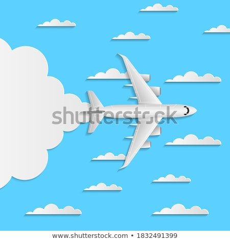 Jet Airplane and Contrail Stock photo © suerob