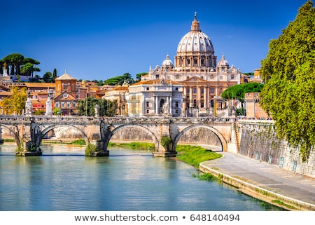 bridge and tiber river in rome italy stock photo © neirfy