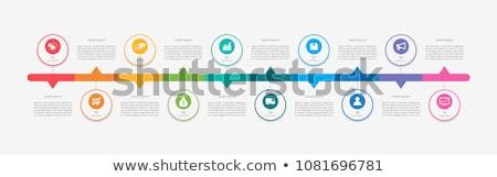 Vektor Timeline Vorlage Symbole dünne Stock foto © orson