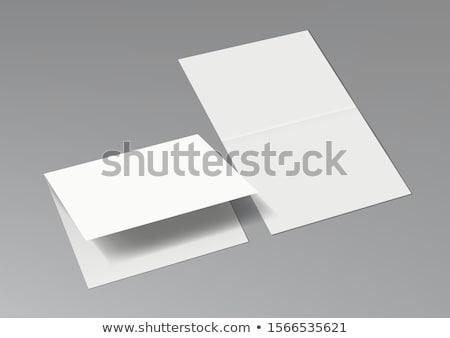 bianco · cartella · carta · biglietto · d'auguri · vettore · modello - foto d'archivio © pikepicture