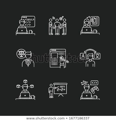 правовой поддержки болван иконки доске 3D Сток-фото © tashatuvango