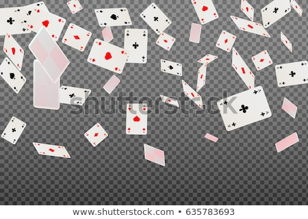 gray background with polygonal playing cards symbols stock photo © blackmoon979