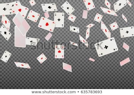 Foto stock: Cinza · cartas · de · jogar · símbolos · coração · diamante