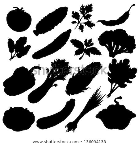 cibo · vegetariano · logo · icona · alimentare · salute · sfondo - foto d'archivio © olena
