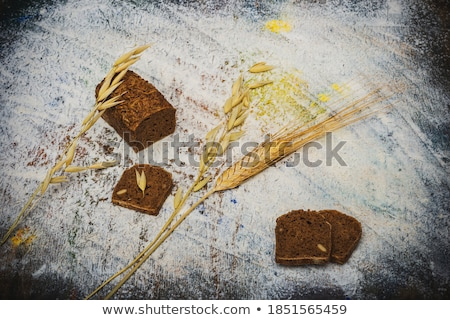 rye wheat ears on plywood background stock photo © stevanovicigor