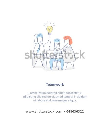 generation of ideas concept with doodle design icons stock photo © tashatuvango