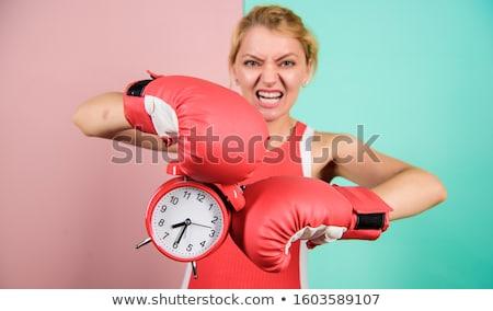 Tempo shot bella kickboxing Foto d'archivio © iko