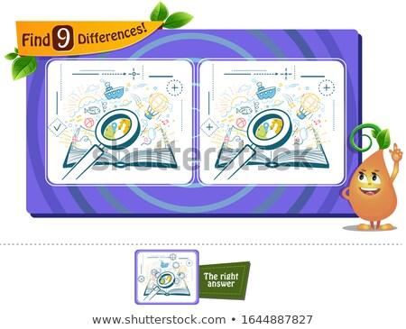 Spel vinden verschillen lezing boek kinderen Stockfoto © Olena