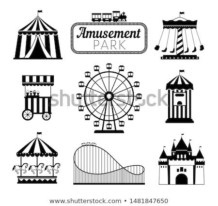 silhouette icon of the circus tent for logo stock photo © olena