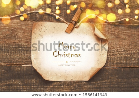 Paper Nameplates with Congratulations Stock photo © zhekos