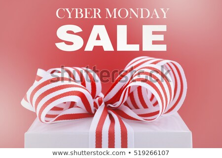 Cyber Monday Sale Gift Box Sign Stock photo © Krisdog