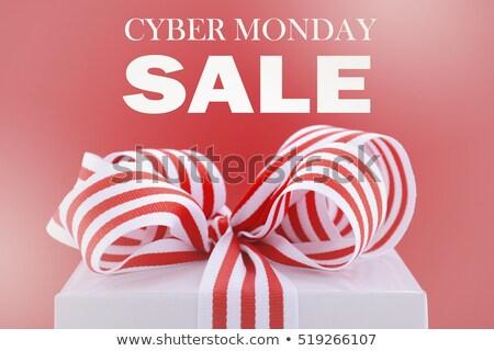 cyber monday sale gift box sign stock photo © krisdog