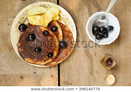 Volkoren pannenkoeken appel eigengemaakt Stockfoto © mpessaris