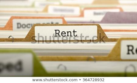 フォルダ · カタログ · 家賃 · クローズアップ · 表示 - ストックフォト © tashatuvango