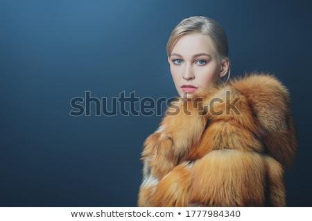 Kadın güzellik model kürk göz kadın Stok fotoğraf © IS2
