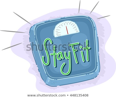 Weighing Scale Stay Fit Lettering Stock photo © lenm