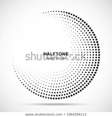 Medios tonos círculo marco vector blanco Foto stock © almagami