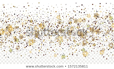 Christmas holiday snowfall and sparkle snowflakes on red transparent background Stock photo © orensila