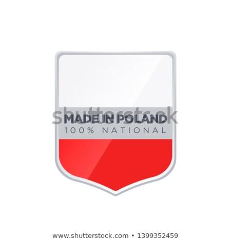 Польша Знак белый знак кнопки Сток-фото © magraphics