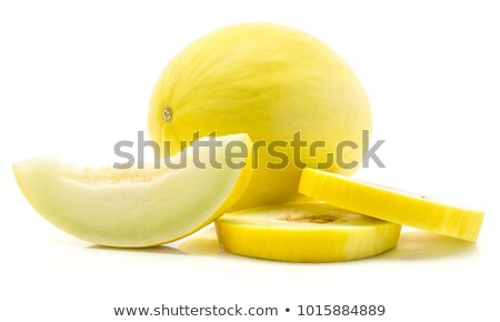 Stockfoto: Two Whole Yellow Melons